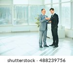 business partners before a... | Shutterstock . vector #488239756