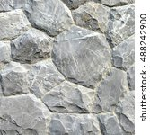 gray stone wall texture and... | Shutterstock . vector #488242900