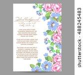 vintage delicate invitation... | Shutterstock .eps vector #488245483
