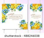 vintage delicate invitation... | Shutterstock .eps vector #488246038