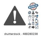 warning icon with bonus...