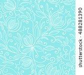 pomegranate seamless pattern.... | Shutterstock .eps vector #488281390