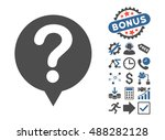 status pictograph with bonus... | Shutterstock .eps vector #488282128