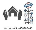 realty insurance hands... | Shutterstock .eps vector #488283643