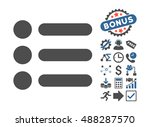 items pictograph with bonus... | Shutterstock .eps vector #488287570