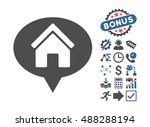 house info balloon pictograph... | Shutterstock .eps vector #488288194