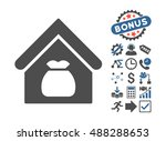 harvest warehouse icon with... | Shutterstock .eps vector #488288653