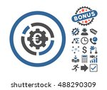 euro diagram options icon with... | Shutterstock .eps vector #488290309