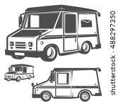set of post truck for emblems... | Shutterstock .eps vector #488297350