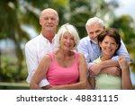 group of happy senior people | Shutterstock . vector #48831115