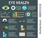 eye diseases healthcare  ... | Shutterstock .eps vector #488313118