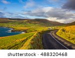 beautiful yet rough irish... | Shutterstock . vector #488320468