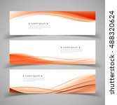 set of banner templates. modern ... | Shutterstock .eps vector #488320624