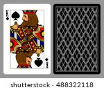 king of spades playing card and ... | Shutterstock . vector #488322118