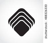 silhouette square symbol | Shutterstock .eps vector #488326330