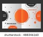brochure design abstract... | Shutterstock . vector #488346160
