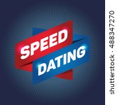 speed dating arrow tag sign.   Shutterstock .eps vector #488347270