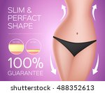 slim and perfect shape . sexy... | Shutterstock .eps vector #488352613
