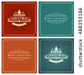 christmas typography greeting... | Shutterstock .eps vector #488353186