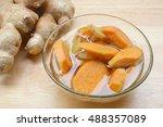 asian dessert soup. sweet... | Shutterstock . vector #488357089