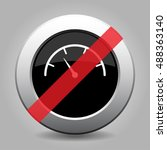 gray chrome button with no dial ... | Shutterstock .eps vector #488363140