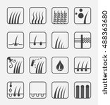 hair type icon and vector