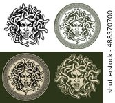 Medusa Head Vector Set.
