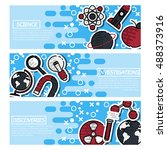set of horizontal banners about ... | Shutterstock .eps vector #488373916
