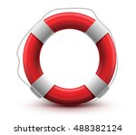 life buoy. high quality. help... | Shutterstock .eps vector #488382124
