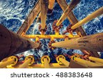 offshore industry oil and gas... | Shutterstock . vector #488383648