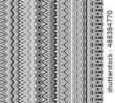ethnic seamless pattern. boho... | Shutterstock .eps vector #488384770