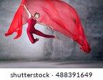 ballet dancer in the work  the... | Shutterstock . vector #488391649