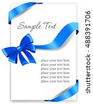 greeting card with a blue... | Shutterstock .eps vector #488391706