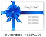 greeting card with a blue... | Shutterstock .eps vector #488391709