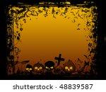 halloween spooky scene | Shutterstock . vector #48839587