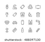 simple set of garbage related... | Shutterstock .eps vector #488397130