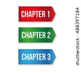 chapter one  two  three vector | Shutterstock .eps vector #488397184