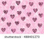 pink background for valentine's ... | Shutterstock . vector #488401273