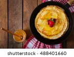 Golden Pancakes With Cranberry...