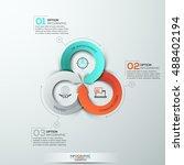 modern arrow business template. ... | Shutterstock .eps vector #488402194