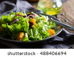 vegetable salad with pumpkin | Shutterstock . vector #488406694