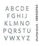 metal alphabet. 3d rendering | Shutterstock . vector #488406964