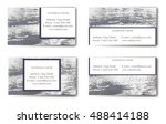 business card template with... | Shutterstock .eps vector #488414188