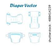 baby absorbent diaper vector... | Shutterstock .eps vector #488414239