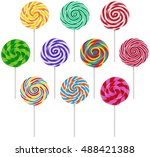 Vector Set Of Colorful Round...