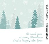 christmas and new year's card   Shutterstock .eps vector #488428546