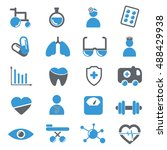 medical icons collection | Shutterstock .eps vector #488429938