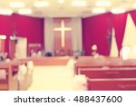 Blur Image Of Church Background.