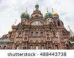 church of the savior on blood   ...   Shutterstock . vector #488443738