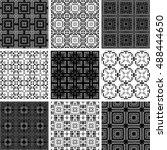 set of 9 monochrome geometrical ...   Shutterstock .eps vector #488444650